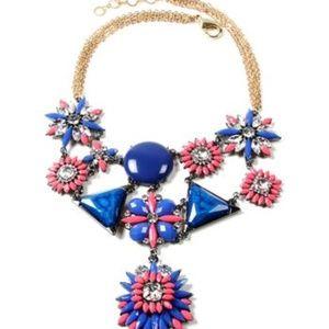 Blue & Austrian Crystal Beatles Necklace